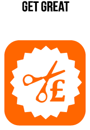 The deals icon - a pair of scissors and a pound sign..