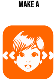 A wupu avatar face with arrows at either side.